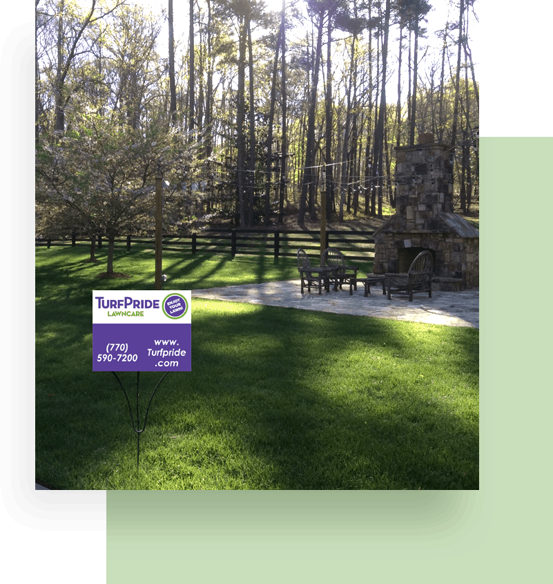 A Georgia-area residential lawn that is maintained year-round through TurfPride's Signature Lawncare Program